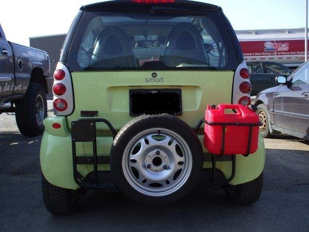 Custom made rack for smart car