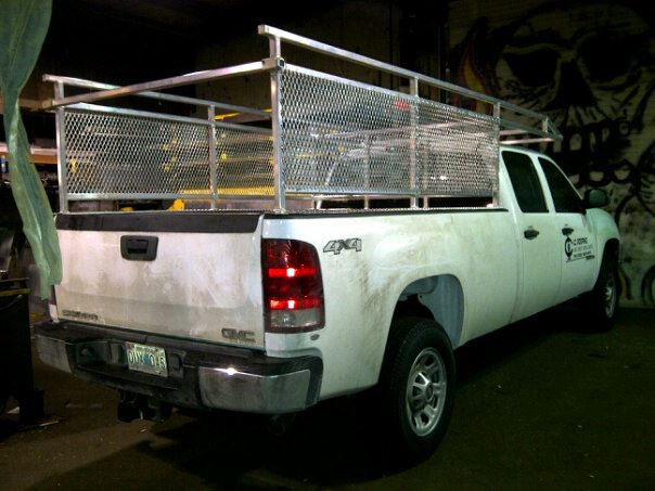 Aluminum Truck Rack-on White Truck
